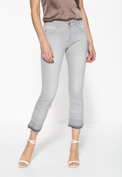 Jeanshose mit offenen Saumkanten und Waschung »Brenda«
