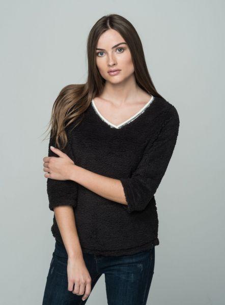 KEY LARGO Damen Sweatshirt & Sweatjacken WSW FLUFFY v-neck 34