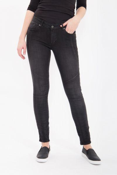 BLUE MONKEY Skinny Jeans mit Ziersteppungen und Abnähern Lesley 1640