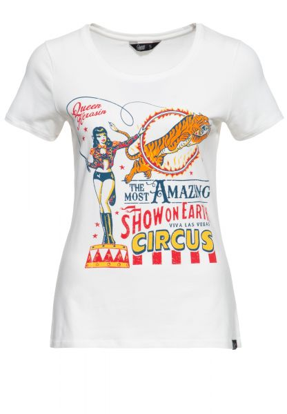 Slim Fit T-Shirt mit Zirkus-Print in Retro-Optik »Circus«