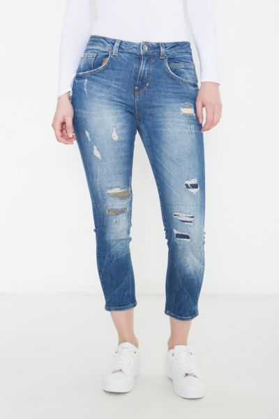 COLINS Skinny Fit Jeans mit Patches