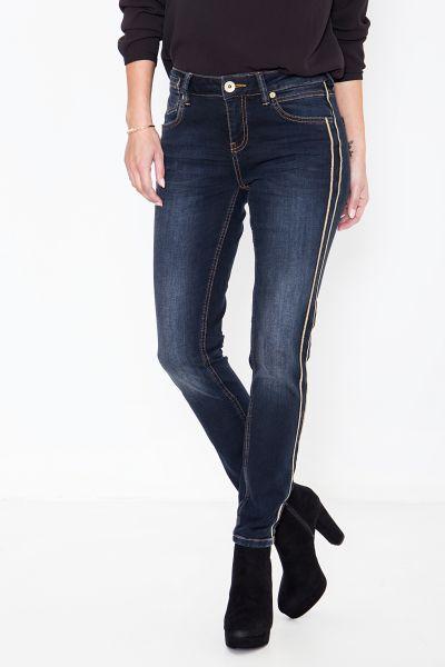 ATT JEANS Slim-Fit Jeans mit Lurex Bändern als Akzent Leoni