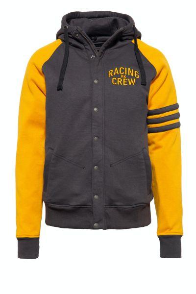 KING KEROSIN Raglan Funktions-Hoodie-Jacket im College-Style mit kontrastierenden Raglanärmeln Motor