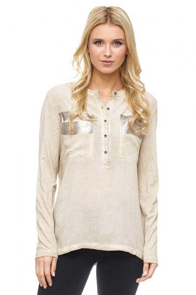 DECAY Shirtbluse mit bedruckten Brusttaschen