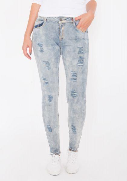 BLUE MONKEY Skinny Jeans mit Acid Waschung Honey 1625