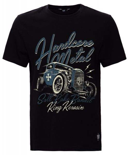 KING KEROSIN Shirt mit Retro Druck Hardcore Metal