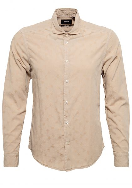 MEXX Slim Fit Hemd aus Jacquard Baumwolle