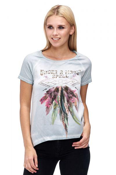 DECAY Blusen-Shirt 1/2 Arm Shirt mit Fotoprint