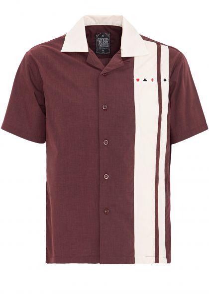 KING KEROSIN Bowlinghemd mit kontrastierndem Einsatz und Kragen
