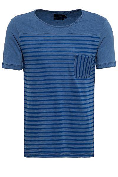 MEXX Shirt im Streifen Look mit Brusttasche