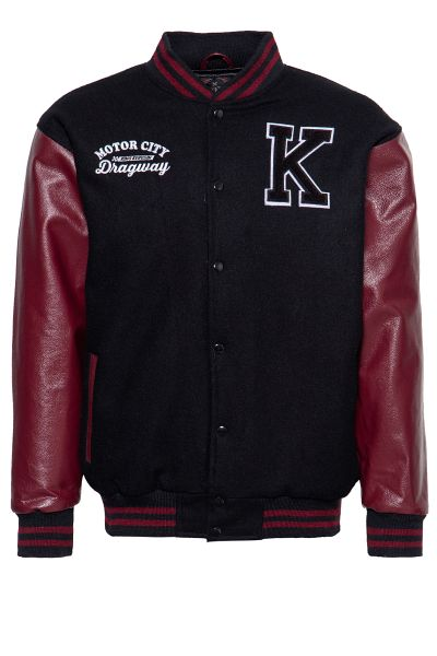 KING KEROSIN College Jacke aus Wolle und Leder