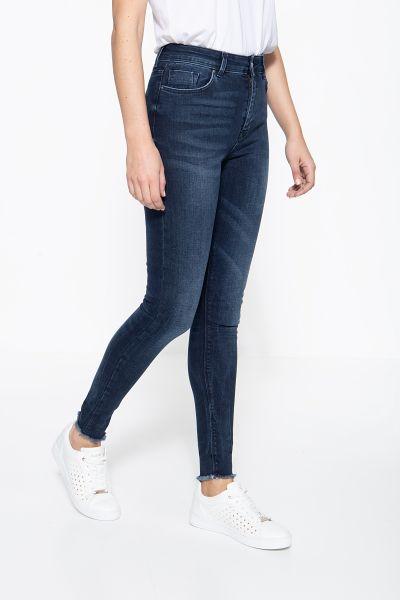 MEXX High-Waist Jeans mit offenen Saumkanten