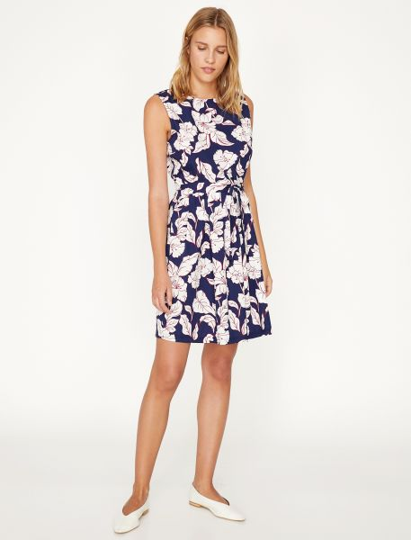 KOTON Taillieres Kleid mit floralem Muster