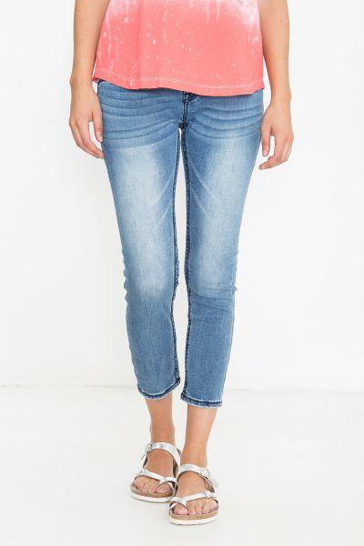 BLUE MONKEY 7/8 Jeans mit breiten Zierstepps Charlotte 3912N
