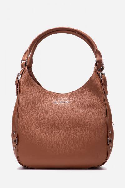 Handtasche mit integrierten Seitenfächern