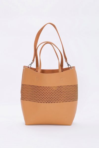 MEXX Trendige Shopper Tasche mit Cut-Out Muster
