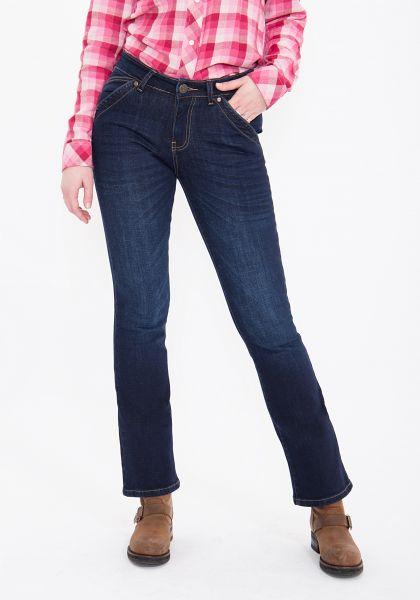 QUEEN KEROSIN Bootcut Jeans mit Klappentaschen Nina