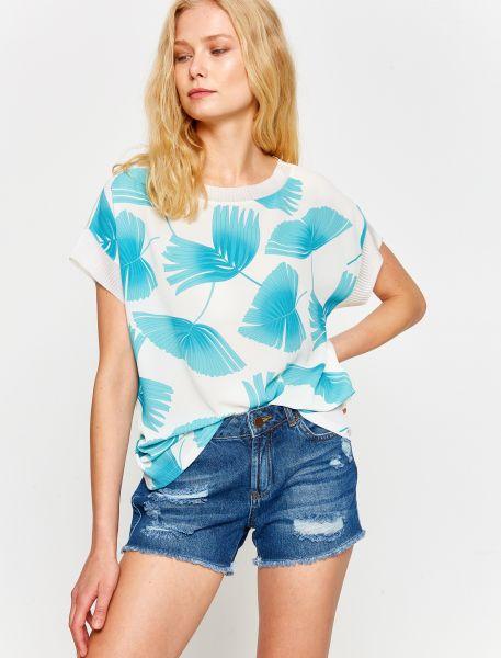 KOTON T-Shirt mit coolem Druck auf dem Vorderteil