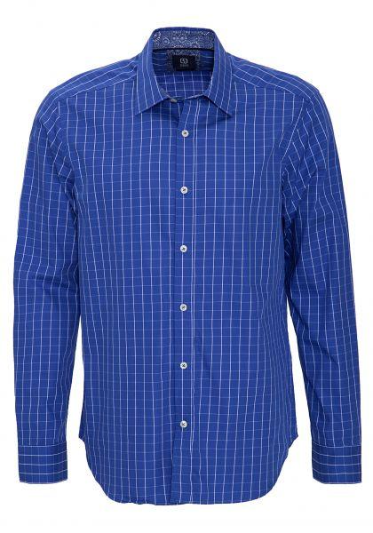 GABANO Langarmhemd mit modernem Karomuster
