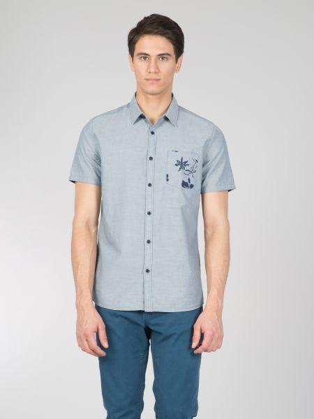 COLINS Kurzarmhemd mit bedruckter Brusttasche