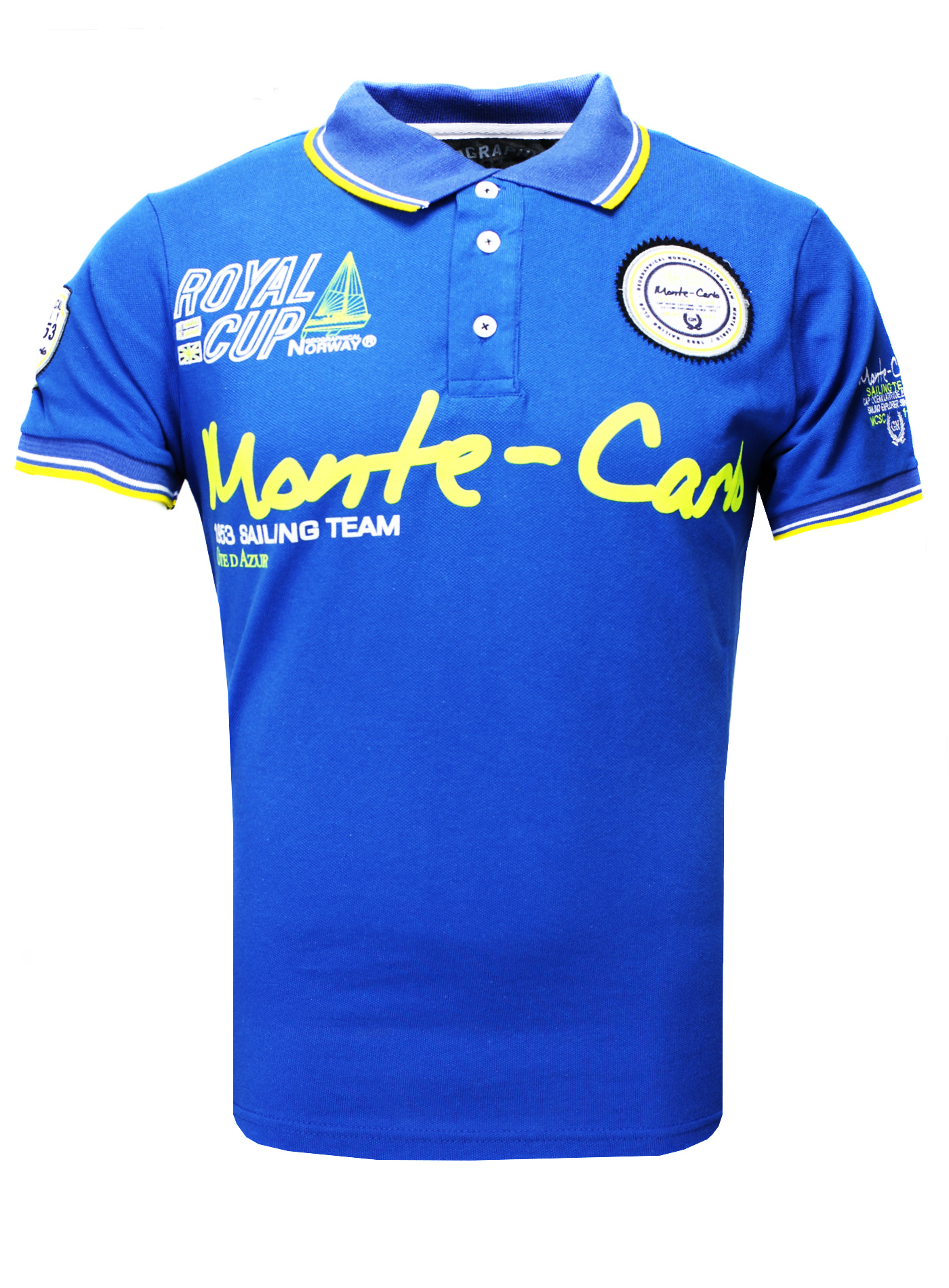 blau Monte Carlo Herren Polo