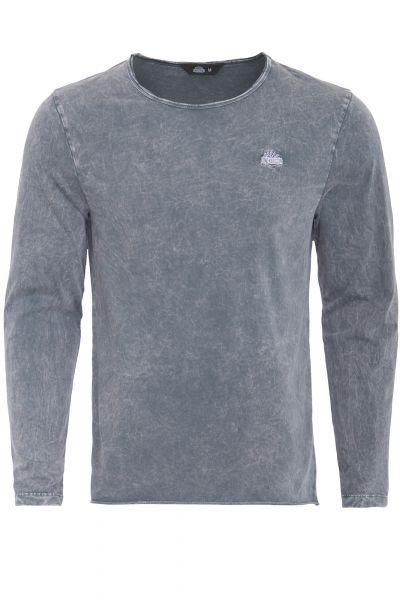 KING KEROSIN Basic Langarmshirt im Used-Look