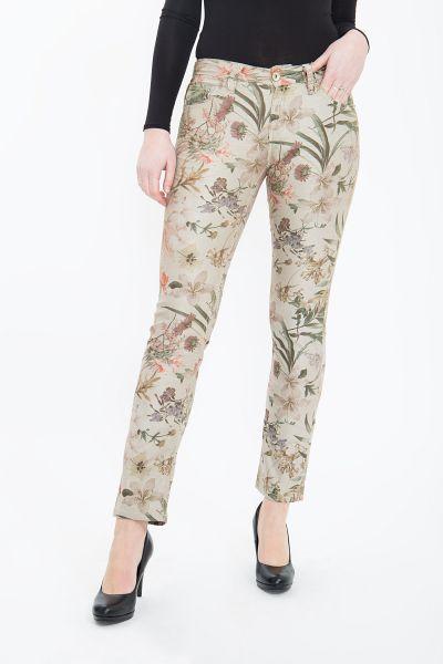 ATT JEANS Floral bedruckte Röhrenhose mit floralem Alloverdruck, Straight Cut Stella