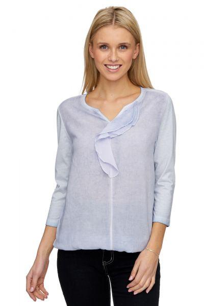 DECAY Blusen-Shirt mit Volant, Used-Optik