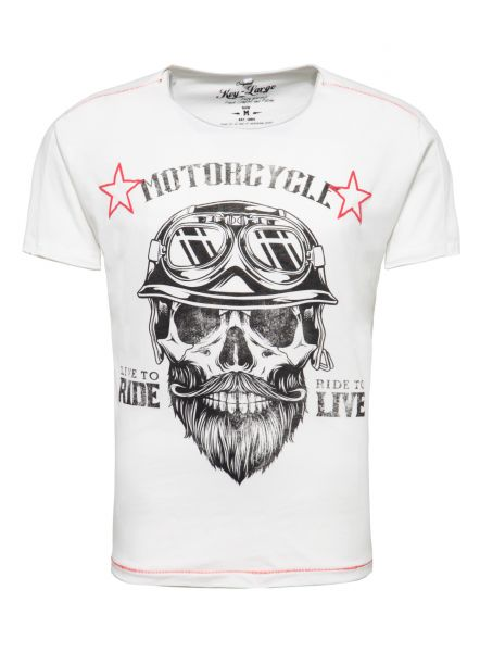 KEY LARGO Herren T-Shirt MT BEARDED BIKER MT BEARDED BIKER