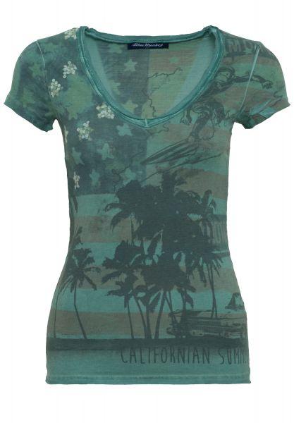 BLUE MONKEY T-Shirt mit Frontprint California Style-1 14-4110
