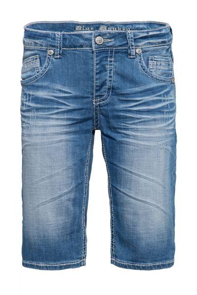 BLUE MONKEY Shorts mit markanten Absteppungen Freddy 4453