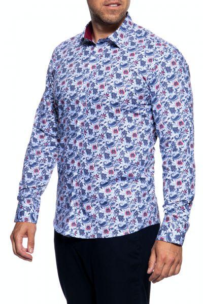 Langarm Hemd mit Paisley Muster