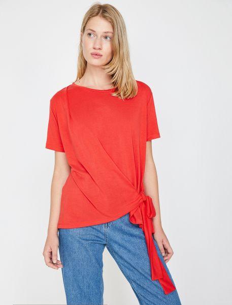 KOTON T-Shirt mit Band zum Knoten