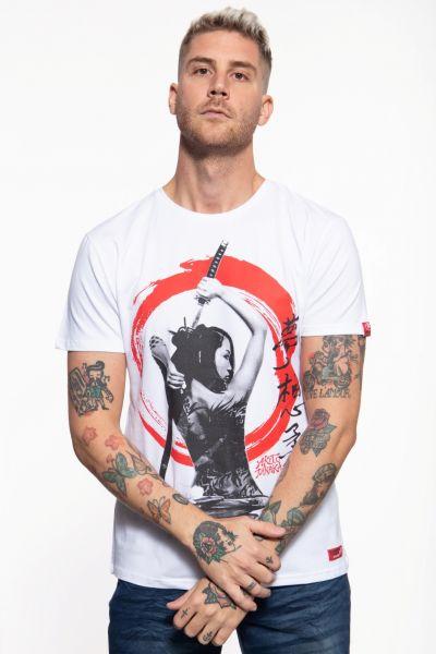 T-Shirt mit Print in der Front »Geisha«