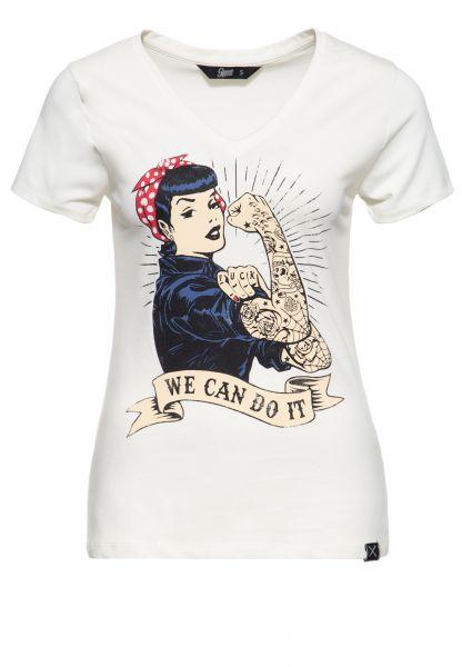 Kurzarm Shirt »We can do it«