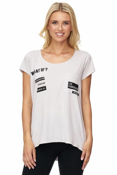 DECAY T-Shirt mit Textelementen bedruckt