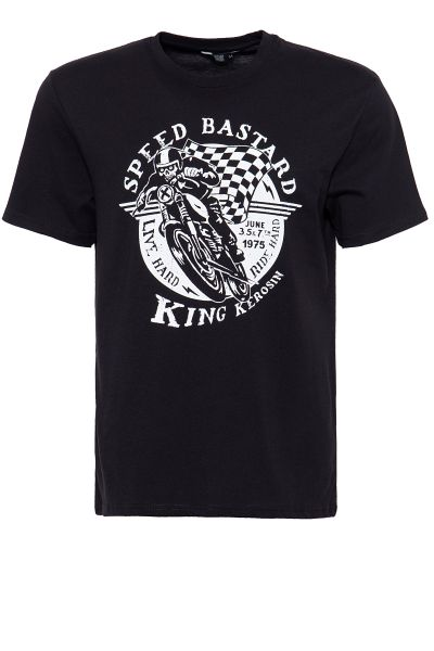 King Kerosin Shirt mit Front Print Speed Bastard