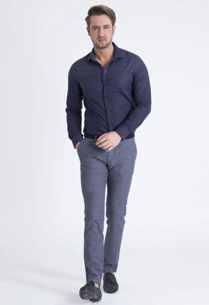 LUFIAN Slim Fit Hemd mit verdeckter Knopfleiste Male