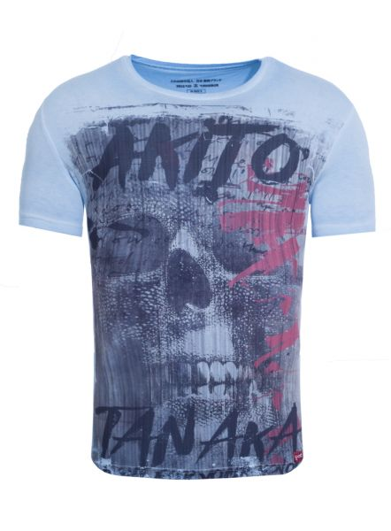 AKITO TANAKA T-Shirt mit Skull Motiv Fight for Skull