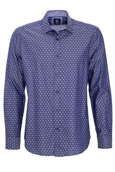 GABANO Langarmhemd mit feinem Punktemuster