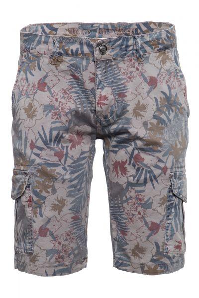 BLUE MONKEY Shorts mit floralem Muster Olli 2249