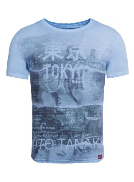 AKITO TANAKA T-Shirt mit Collagen Druck Geisha Beloved