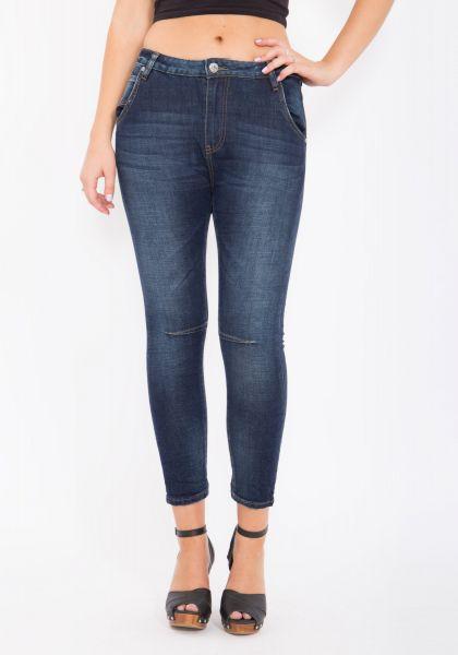 BLUE MONKEY Boyfriend Jeans Cropped Celine 1230