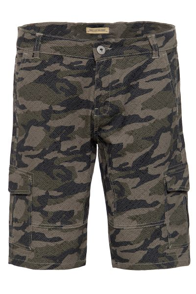 WAY OF GLORY Cargobermudas mit Camouflage-Muster