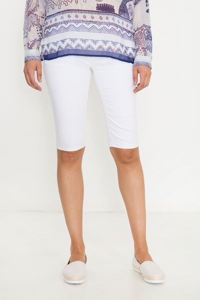 BLUE MONKEY Sommer Bermudas in cleanem Look mit Dekostepps Melody 3941
