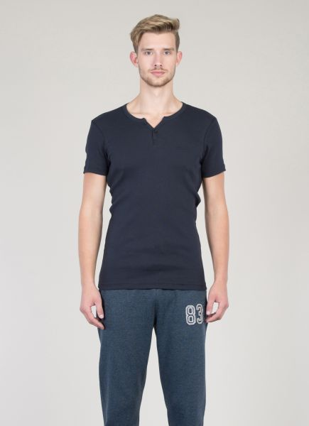 COLINS Basic Ripp-Shirt mit Serafino Ausschnitt