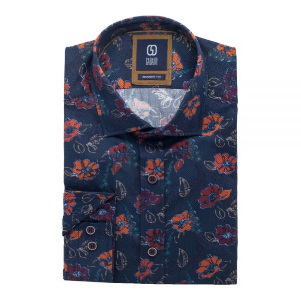 GABANO Langarmhemd mit floralem Muster im Vintagelook