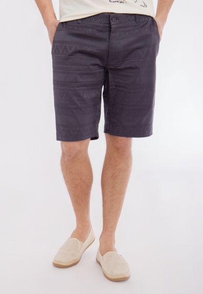 MEXX Shorts mit tonigem Jacquardmuster und Eingriffstaschen