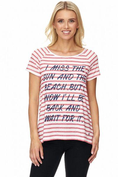 DECAY T-Shirt mit Streifen und Anker Applikation