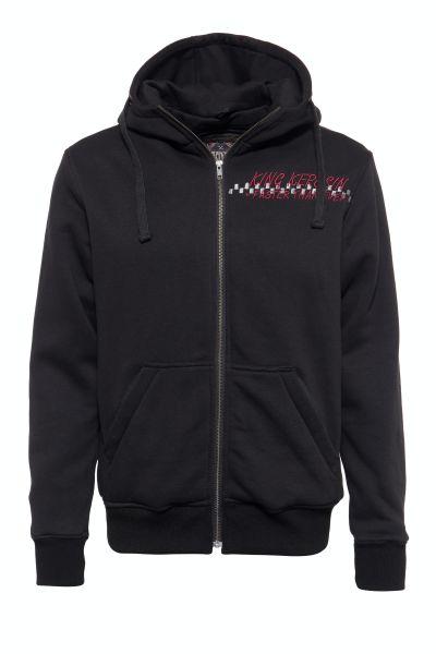KING KEROSIN Herren Funktions-Hoodie-Jacket mit Kapuze und herausnehmbarem Softshell-Innenfutter Mot
